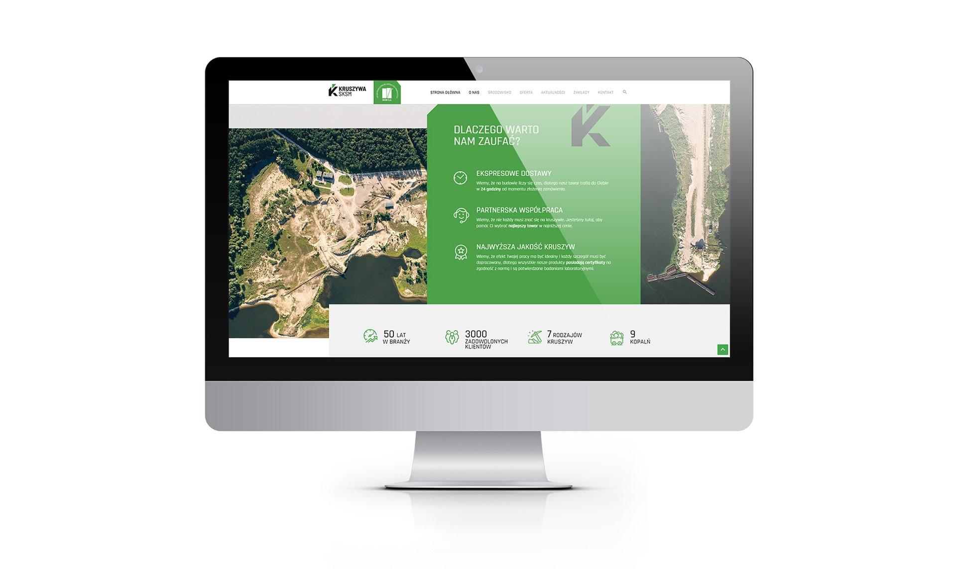 strona internetowa responsywna dla kopalni kruszywa